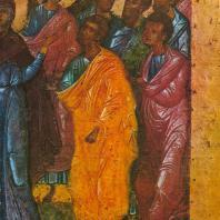 Вознесение. Деталь (в натуральную величину). Праздничный ряд. Софийский собор в Новгороде