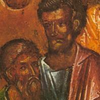 Пятидесятница (Сошествие св. Духа). Деталь. Праздничный ряд. Софийский собор в Новгороде