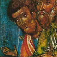 Успение. Деталь. Праздничный ряд. Софийский собор в Новгороде