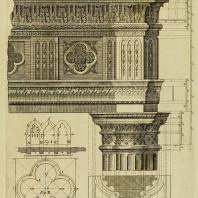 Gothic Architecture. Batty & Thomas Langley. 1742. Plate 3