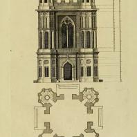 Gothic Architecture. Batty & Thomas Langley. 1742. Plate 60