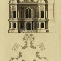 Gothic Architecture. Batty & Thomas Langley. 1742. Plate 62