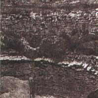 Каменецкая башня. Завершение башни: зубцы и остатки свода. Фото 1898