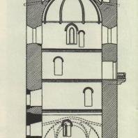 Каменецкая башня. Разрез башни. Чертеж В.В. Суслова. 1899