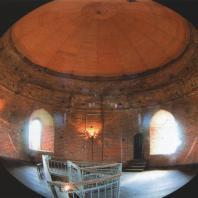 Каменецкая башня. Панорама верхнего яруса с куполом