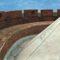 Каменецкая башня. Современная крыша башни