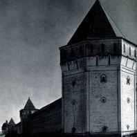 Борисоглебский монастырь (Ярославская обл.). Башни западной стены. Конец XVII в. Фото А. А. Александрова