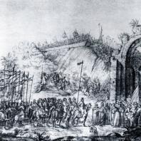 Золотые ворота в Киеве. Гравюра А. Вестерфельда. 1651 г.