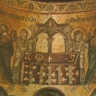 «Евхаристия». Мозаика Софийского собора. Фрагмент. Киев, XI в.