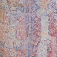 «Константин и Елена». Фреска Софийского собора. Новгород, XI в.