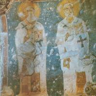 «Лазарь и Иаков». Фреска апсиды церкви Спаса-Нередицы. Фрагмент. Конец XII в.