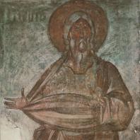 «Пророк». Фреска церкви Спаса на Ильине. Феофан Грек. Новгород, 1378 г.