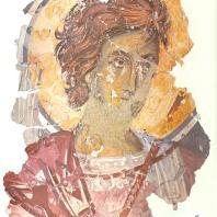 «Воин» и «Христос во гробе». Фреска церкви Спаса на Ковалеве. Фрагменты. Новгород, 1380 г.