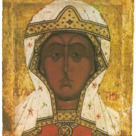 «Параскева-Пятница». Новгород, XVI в. Государственная Третьяковская галерея