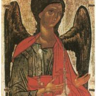 «Архангел Михаил». Новгород, XIV в. Государственная Третьяковская галерея