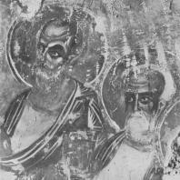 «Сошествие св. духа». Фреска Рождественского собора Снетогорского монастыря. Фрагмент. Псков, 1313 г.