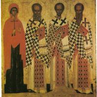 «Избранные святые». Псков, XIV в. Государственная Третьяковская галерея