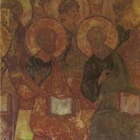 «Страшный суд». Фреска Успенского собора. Фрагмент. Андрей Рублев и Даниил Черный. Владимир, 1408 г.