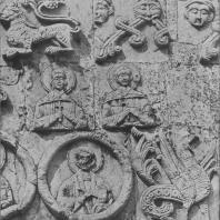 Георгиевский собор. Фрагмент фасада. Юрьев-Польской, 1230-1234 гг.