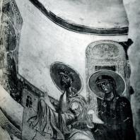 Старая Ладога. Церковь Георгия. Фрагмент росписи абсиды. 1180-е гг.