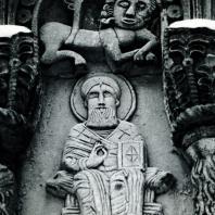 Владимир на Клязьме. Дмитриевский собор. Рельефы аркатурного пояса. Фрагмент. 1193-1197
