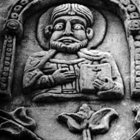 Владимир на Клязьме. Дмитриевский собор. Скульптурное убранство стены. Фрагмент. 1193-1197