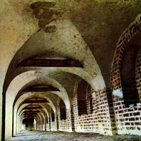Кирилло-Белозерский монастырь. Второй ярус крепостных стен. Внутренний вид. XVII в.