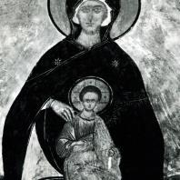 Ферапонтов монастырь. Собор Рождества Богородицы. Фрагмент фрески Дионисия с изображением Богородицы. 1500-1502