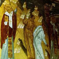 Ферапонтов монастырь. Собор Рождества Богородицы. Фреска Дионисия в абсиде. Фрагмент. 1500-1502