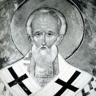 Ферапонтов монастырь. Фреска Дионисия с изображением св. Николая на своде южной абсиды. 1500-1502