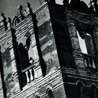 Москва. Ново-Девичий монастырь. Саввинская башня оборонительной стены. Фрагмент. XVI-XVII вв.