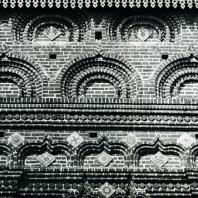 Ярославль. Церковь Иоанна Предтечи в Толчкове. Фигурная кирпичная кладка стены. 1671-1687